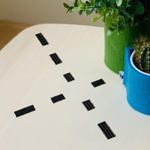 uniek patroon in het tafelblad