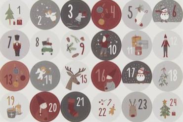 stickers 1 tot en met 24 voor diy advent kalender