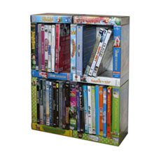 dvd kastje van oude videobanden