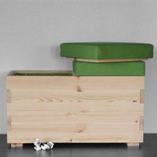 houtmoed speelgoedkist uit de oude doos