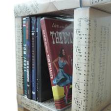 vervang de hoezen voor muziekschrift en het kastje is ideaal voor je muziekdvd's