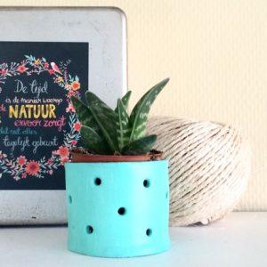 Dit DIY bloempotje maak je met luchtdrogende klei. Makkelijk en supervrolijk!
